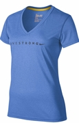 Women's LIVESTRONG Legend V-Neck Tee - Blue