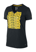 Women's LIVESTRONG Tri-Blend Repeat Tee - Black