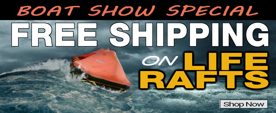 Boatshow Liferaft Free Shipping Promotion