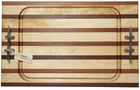 Soundview Millworks Nautical Serving Boards - Multi and Single Stripe -  Multi and Single Stripe Double Cleat - Steak Carving Board