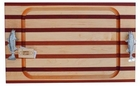 Soundview Millworks Nautical Serving Board - Double Fish Handle Multi Striped - Large