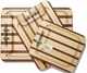 Soundview Millworks Nautical Serving Tray - Multi-Stripe  Single Cleat - Medium