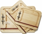 Soundview Millworks Nautically Themed Serving Boards - Single Stripe Single Cleat