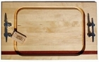 Soundview Millworks Nautical Serving Board - Single Stripe, Double handle - Large