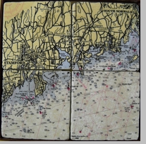 Screencraft Tile Coasters: Stamford, CT to South Norwalk, CT