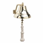 Weems & Plath  Brass Bell  7 INCH W/ Off-White Monkey's Fist Lanyard