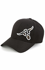 20X Mens Steer Baseball Cap - Black