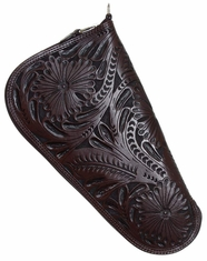 3D Western Tooled Pistol Case - Chocolate