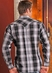 90 Proof Men's Long Sleeve Plaid Snap Western Shirt - Black (Closeout)