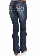 Adiktd Womens New Orleans Lowrise Boot Cut Jeans