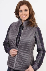 Adiktd Womens Quilted Vest - Grey