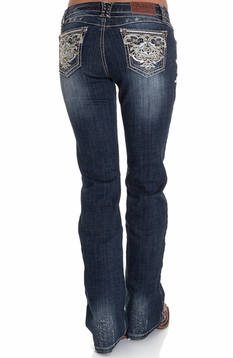 Adiktd Womens Jeans Kings Landing Mid Rise Boot Cut Jeans