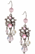 Adra Womens Pink Chandelier Earrings (Closeout)