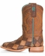Anderson Bean Kid's Crazy Train Patchwork Cowboy Boots - Honey/ Brown