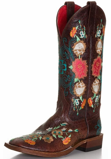 Anderson Bean Women's Sweet 16 Floral Cowboy Boots - Brown