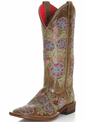 Anderson Bean Womens Thundercat Floral Cowboy Boots (Closeout)