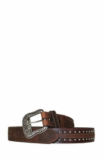 Ariat Austin Belt Collection - Men's Antique Brown/Brown Oiled Rowdy Belt (Closeout)