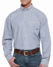 Ariat Men's Balin Long Sleeve Stripe Button Down Shirt - Ancient Royal