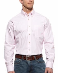 Ariat Men's Balin Long Sleeve Stripe Button Down Shirt - Pink
