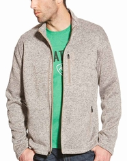 Ariat Men's Caldwell Full Zip Sweater - Tan Heather