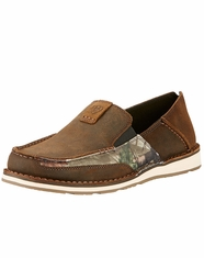 Ariat Men's Cruiser Camo Slip-On Shoes - Brown