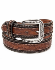 Ariat Men's Embossed Overlay Belt - Brown