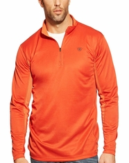 Ariat Men's Evolve 1/4 Zip Mesh Jacket - Desert Red