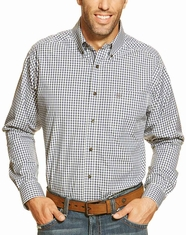 Ariat Men's Gavril Long Sleeve Check Button Down Shirt - Royal