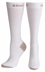 Ariat Men's Heavy Duty Sport Socks - White
