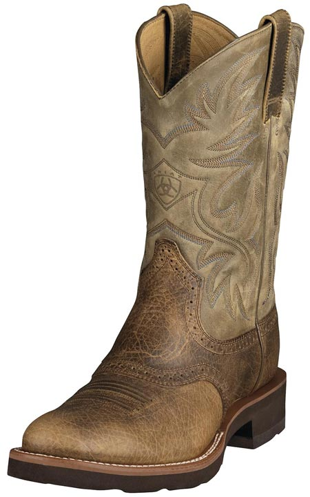 "Ariat Men's Heritage Crepe 11"" Cowboy Boots - Earth/ Brown Bomber"