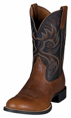 Ariat Men's Heritage Horseman Performance Cowboy Boots - Maple / Black