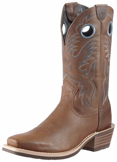 Ariat Men's Heritage Roughstock Cowboy Boots - Distressed Brown