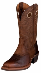 Ariat Men's Heritage Roughstock Performance Cowboy Boots - Brown Oiled Rowdy (Closeout)