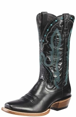 "Ariat Men's Hotwire 13"" Square Toe Cowboy Boots - Napa Black (Closeout)"