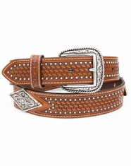 Ariat Men's Large Diamond Concho Belt - Brown (Closeout)