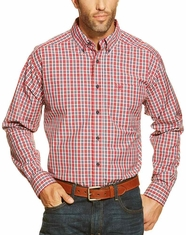 Ariat Men's Long Sleeve Bagley Button Down Shirt - Crimson Flame