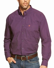 Ariat Men's Long Sleeve Bryce Print Button Down Shirt - Black Orchid