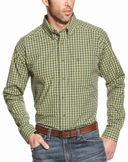 Ariat Men's Long Sleeve Classic Fit Plaid Button Down Shirt - Green