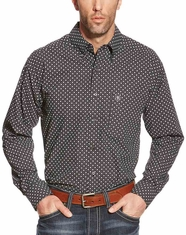 Ariat Men's Long Sleeve Classic Fit Print Button Down Shirt - Black