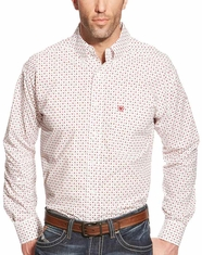 Ariat Men's Long Sleeve Classic Fit Print Button Down Shirt - White