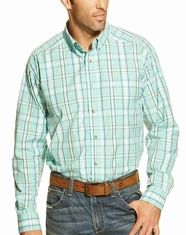 Ariat Men's Long Sleeve Falkirk Button Down Shirt - Blue (Closeout)