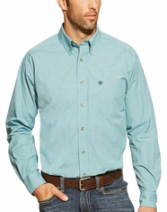 Ariat Men's Long Sleeve Kingston Check Button Down Shirt - Vista Mar