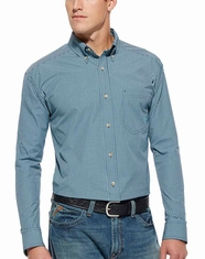 Ariat Men's Long Sleeve Ridley Button Down Shirt - Evening Navy (Closeout)