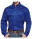 Ariat Men's Long Sleeve Solid Twill Button Down Western Shirt - Ultramarine