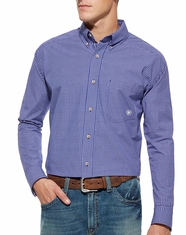 Ariat Men's Long Sleeve Tad Button Down Shirt - Spectrum Blue (Closeout)