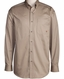 Ariat Men's Long Sleeve Western Solid Twill Button Down Shirt - Khaki