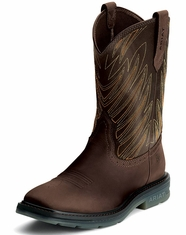 Ariat Men's Maverick Wide Square Toe Work Boots - Dark Tan (Closeout)
