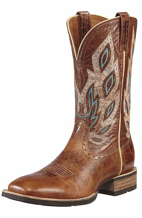"Ariat Men's Nighthawk 13"" Square Toe Cowboy Boots - Beasty Brown"