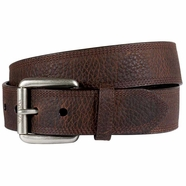 Ariat Men's Premium Leather Triple Row Stitch Belt - Brown Rowdy