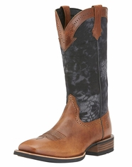 Ariat Men's Quickdraw Square Toe Boots - Powder Brown/Kryptek